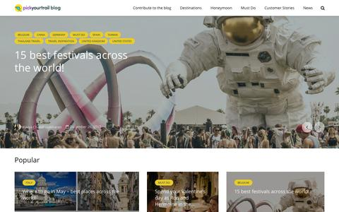 Screenshot of Blog pickyourtrail.com - Ideal International Holiday Destinations & Traveller Stories @Pickyourtrail Travel Blog - captured Jan. 16, 2018