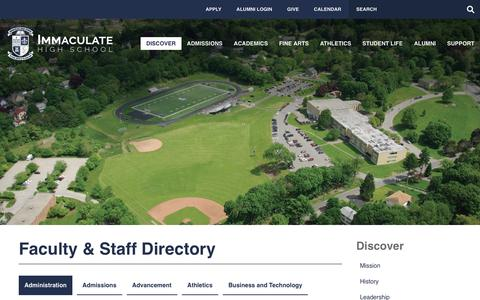 Screenshot of Contact Page immaculatehs.org - Faculty & Staff Directory - Immaculate High School - captured Oct. 11, 2018