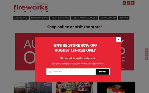 Screenshot of Home Page fireworkslimited.com - Fireworks Limited | Simply Brilliant! - captured Aug. 3, 2015