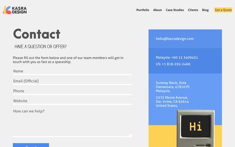 Contact | Kasra Design