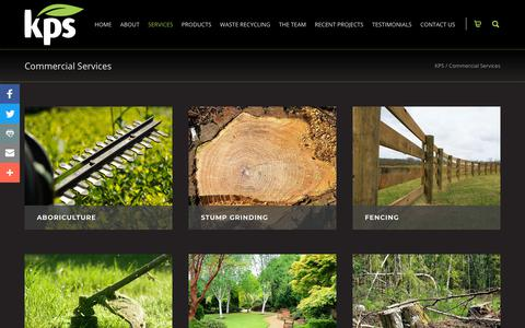 Screenshot of Services Page kps.uk.com - KPS offer all your landscaping solutions along with Composting and recycling - captured Oct. 14, 2018