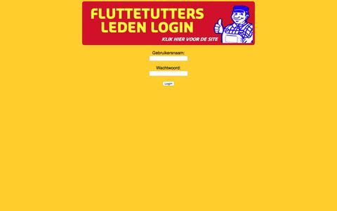 Screenshot of Login Page fluttetutters.nl - Flut-site by: Stribbe.com - captured Oct. 10, 2017