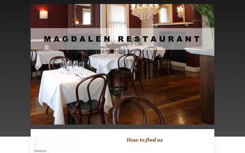 Screenshot of Maps & Directions Page magdalenrestaurant.co.uk - MAGDALEN RESTAURANT - Directions - captured May 27, 2017