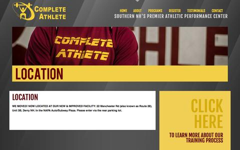 Screenshot of Maps & Directions Page completeathletenh.com - Complete Athlete - Location - captured March 3, 2016