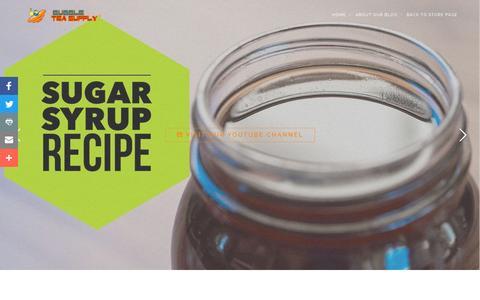 Screenshot of Blog bubbleteasupply.biz - Bubble Tea Supply Blog - captured June 15, 2016