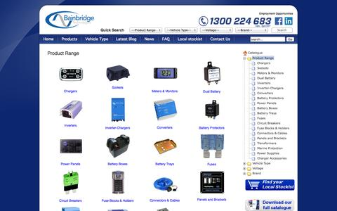 Screenshot of Products Page baintech.com.au - Product Range | Bainbridge Technologies - captured Oct. 5, 2014