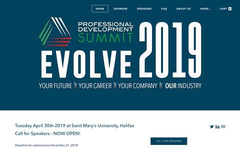 Screenshot of Home Page pdsummit.ca - www.pdsummit.ca - captured Nov. 22, 2018