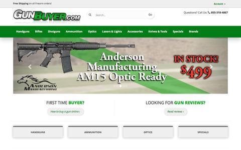 Screenshot of Home Page gunbuyer.com - Guns For Sale | Online Gun Store | Buy Guns Online | GunBuyer.com - captured Nov. 26, 2016