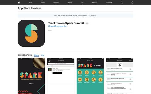Trackmaven Spark Summit on the App Store