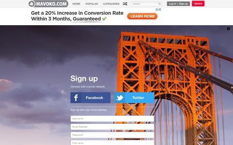 Screenshot of Signup Page abcnine.com - Registration - captured Oct. 27, 2014