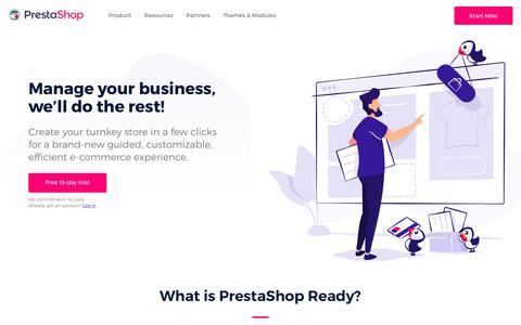 Screenshot of Pricing Page prestashop.com - PrestaShop Ready - Hosted eCommerce solution - Free trial - captured June 21, 2018
