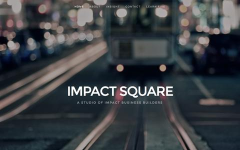 Screenshot of Home Page impactsquare.com - IMPACT SQUARE - captured Aug. 3, 2015