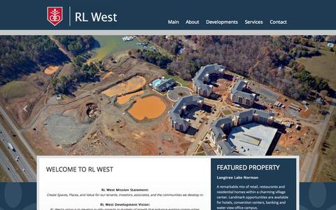 Screenshot of Home Page rlwest.com - RL West - captured Oct. 7, 2014