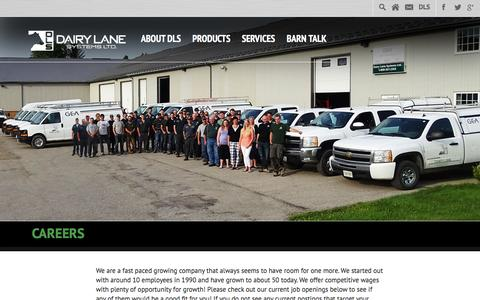 Screenshot of Jobs Page dairylane.ca - Positions Archive - Dairy Lane Systems Ltd. - captured Feb. 8, 2016
