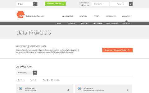 Third Party Data Providers | ISN