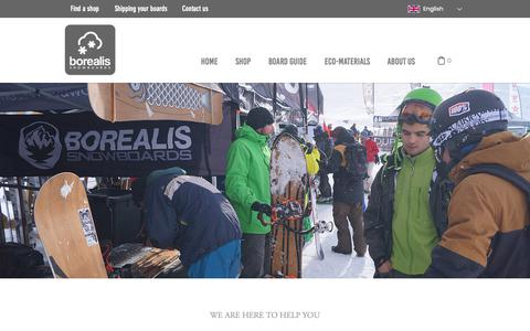 Screenshot of Contact Page borealis-snowboards.com - Contact Us - captured Nov. 6, 2018