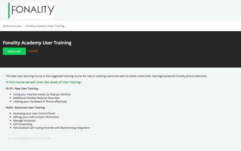Fonality Academy User Training - Online Course