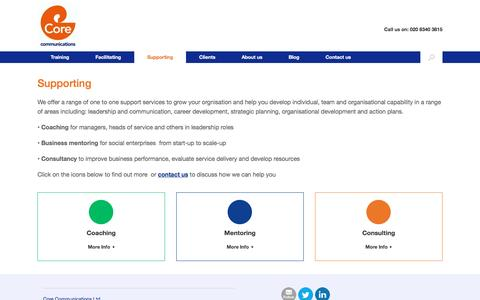 Screenshot of Support Page corecomms.com - Supporting - Core Communications - captured Nov. 12, 2016