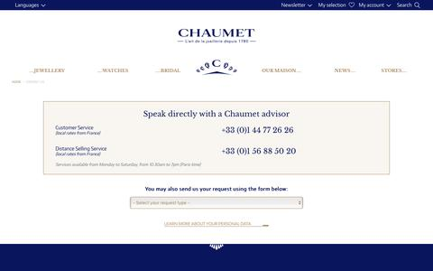 Screenshot of Contact Page chaumet.com - Contact us | Chaumet - captured Dec. 24, 2016