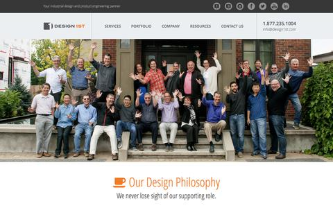 Screenshot of About Page Team Page design1st.com - Product Development Company | Design 1st - captured June 4, 2017