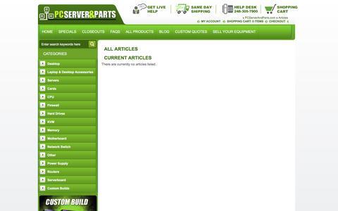 Screenshot of Blog pcserverandparts.com captured Dec. 5, 2015
