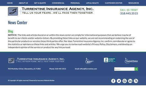 Screenshot of Press Page turrentine.com - News Feeds - Turrentine Insurance Agency, Inc. - captured Nov. 16, 2018