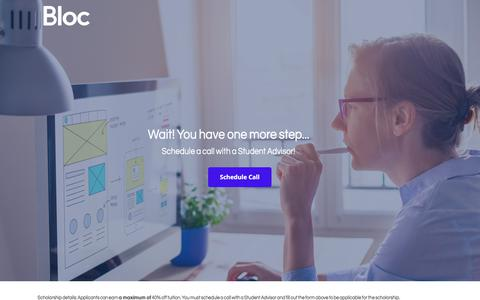 Screenshot of Landing Page bloc.io captured March 4, 2018