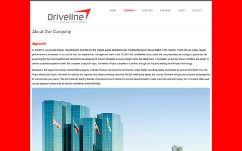 Screenshot of About Page drivelineretail.com - DRIVELINE RETAIL - DRIVING YOUR BUSINESS - captured Sept. 22, 2018