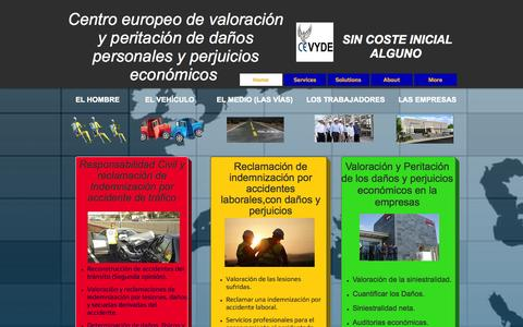 Screenshot of Home Page afa-cevyde.com - cevyde-centro europeo de valoración de daños-España - captured Oct. 1, 2014