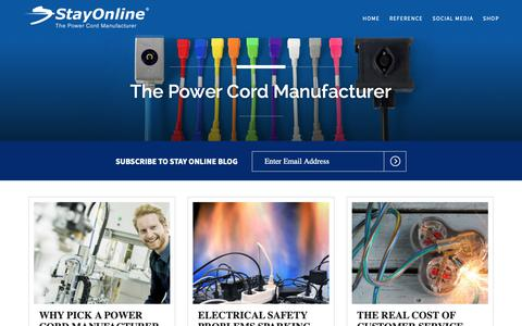 Screenshot of Blog stayonline.com - StayOnline - The Power Cord Manufacturer - captured Oct. 19, 2018