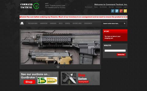 Screenshot of Home Page comm-tac.com - Command Tactical, Inc in United States | Gun Shop | Firearms For Sale - captured Nov. 8, 2018