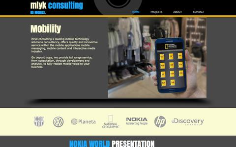 Screenshot of Home Page mlyk.com - mlyk consulting - mobile consulting - mobility - captured Oct. 1, 2014