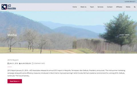Screenshot of Press Page acdassociates.com - Media ACD Associates | Business | Consumers | Government - captured May 28, 2017