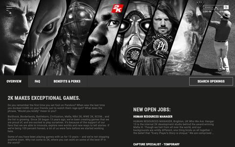 Screenshot of Jobs Page 2k.com - Jobs - 2K - captured Oct. 30, 2018