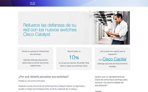 Screenshot of Landing Page cisco.com - Cisco - captured Aug. 26, 2016