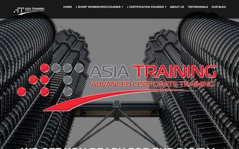 Screenshot of Home Page asiatraining.com - AsiaTraining.com - We get you ready for the Digital Economy - captured Jan. 26, 2017