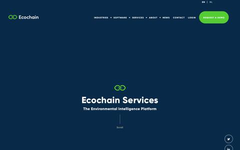 Screenshot of Services Page ecochain.com - Services - Ecochain - captured Sept. 27, 2018
