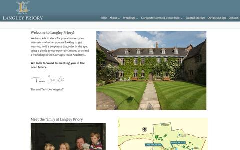 Screenshot of About Page langleypriory.co.uk - || Beautiful Intimate Wedding Venue in the heart of Derbyshire || - captured May 21, 2016