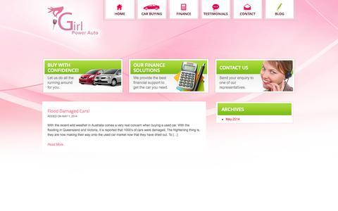 Screenshot of Blog girlpowerauto.com.au - Blog | Girl Power Auto - captured Sept. 30, 2014