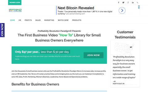 Screenshot of Contact Page Signup Page profitabilityrevolution.com - Provitability Revolution | Home - captured Sept. 16, 2017