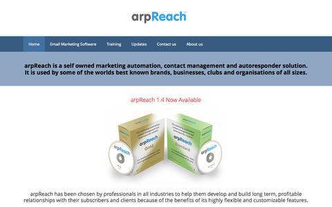 Screenshot of Blog arpreach.com - We Help You to Improve Your Email Marketing and Contact Management - captured Oct. 8, 2015