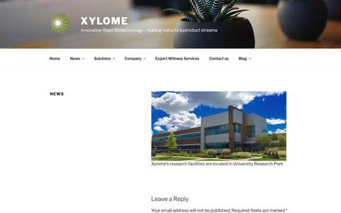 Screenshot of Press Page xylome.com - News - Xylome - captured Oct. 18, 2018
