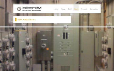 Screenshot of Press Page specfirm.com - SPEC FIRM News - captured Sept. 25, 2018