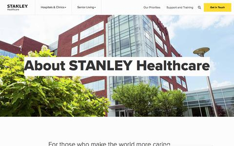 Screenshot of About Page stanleyhealthcare.com - (2) New Messages! - captured July 19, 2019