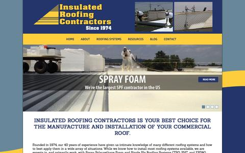 Screenshot of Home Page ircroof.com - Home | Insulated Roofing ContractorsInsulated Roofing Contractors - captured Oct. 6, 2014