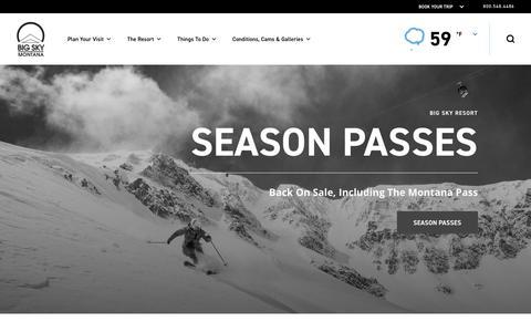 Screenshot of Home Page bigskyresort.com - Home | Big Sky Resort, Montana - captured Aug. 18, 2018