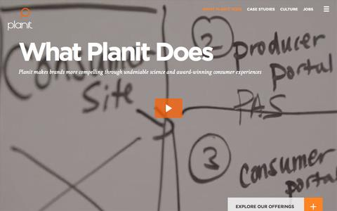 Screenshot of Services Page planitagency.com - Brand, Advertising, Marketing, and Digital Services | Planit - captured Nov. 5, 2015