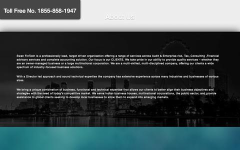 Screenshot of About Page swanfintech.com - About : Swan Fintech - captured Oct. 6, 2014