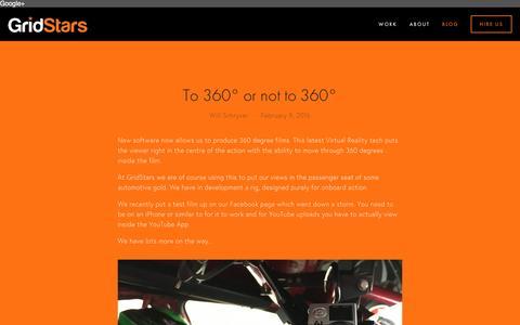 Screenshot of Blog gridstars.co.uk - Blog — GridStars - captured Nov. 16, 2016