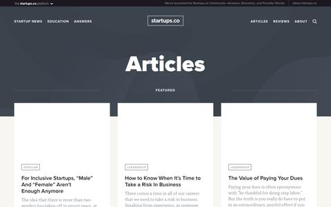 Articles | Startups.co